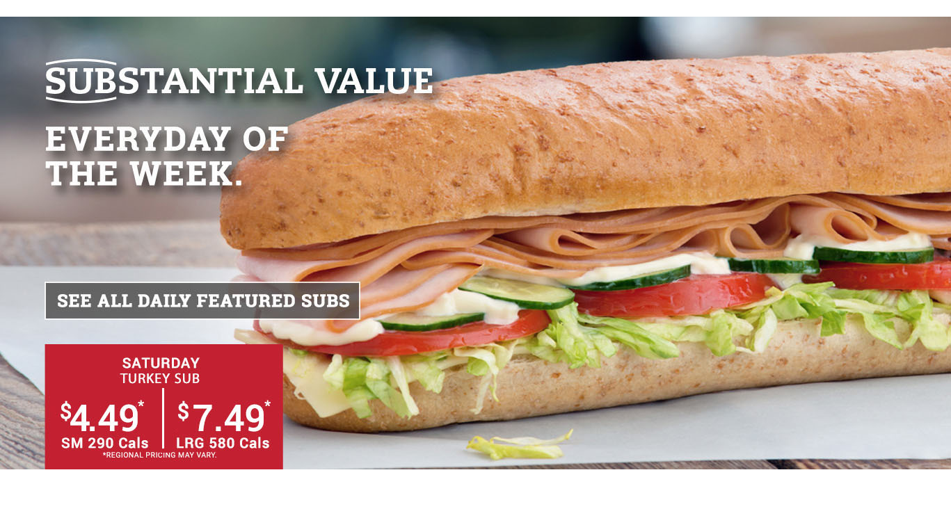 Sub of the Day - Saturday