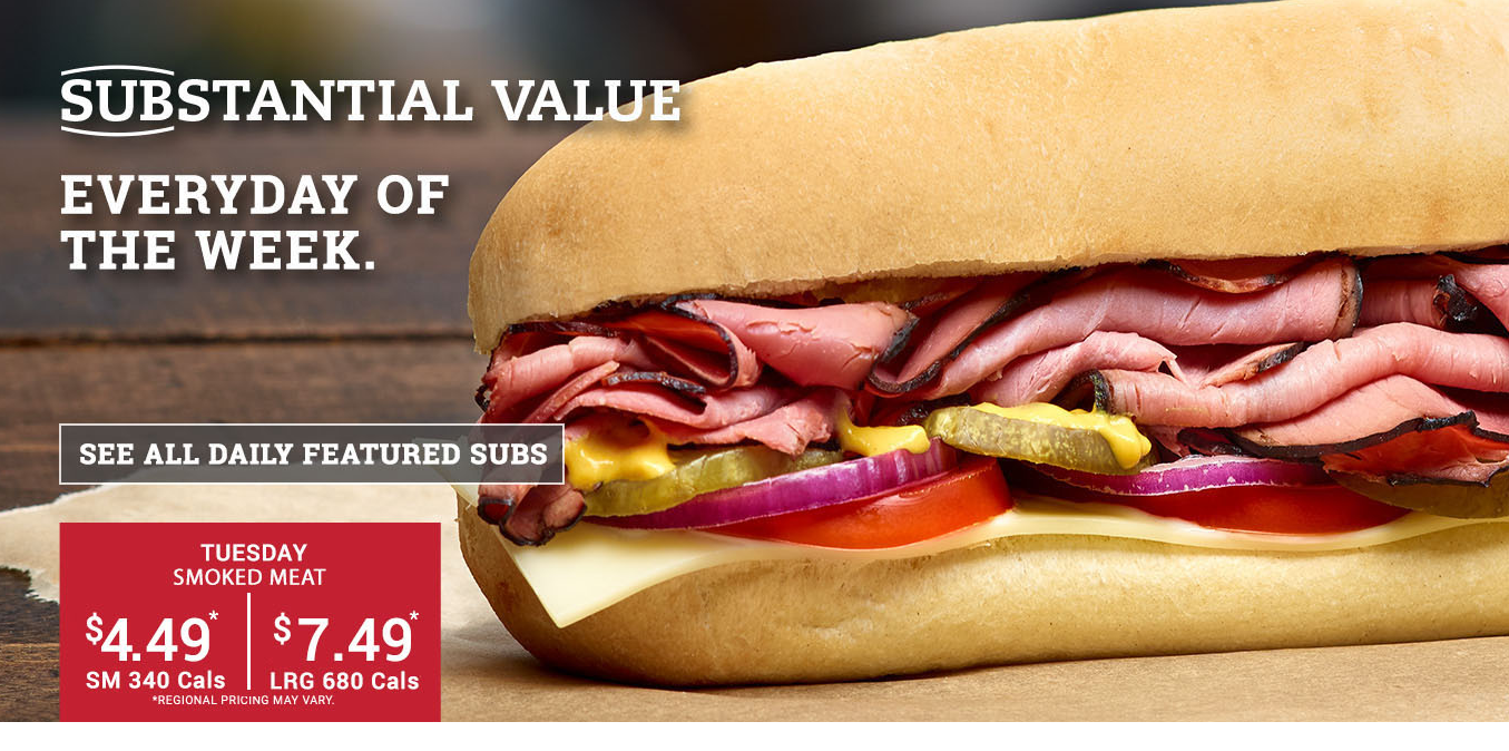 Sub of the Day - Tuesday