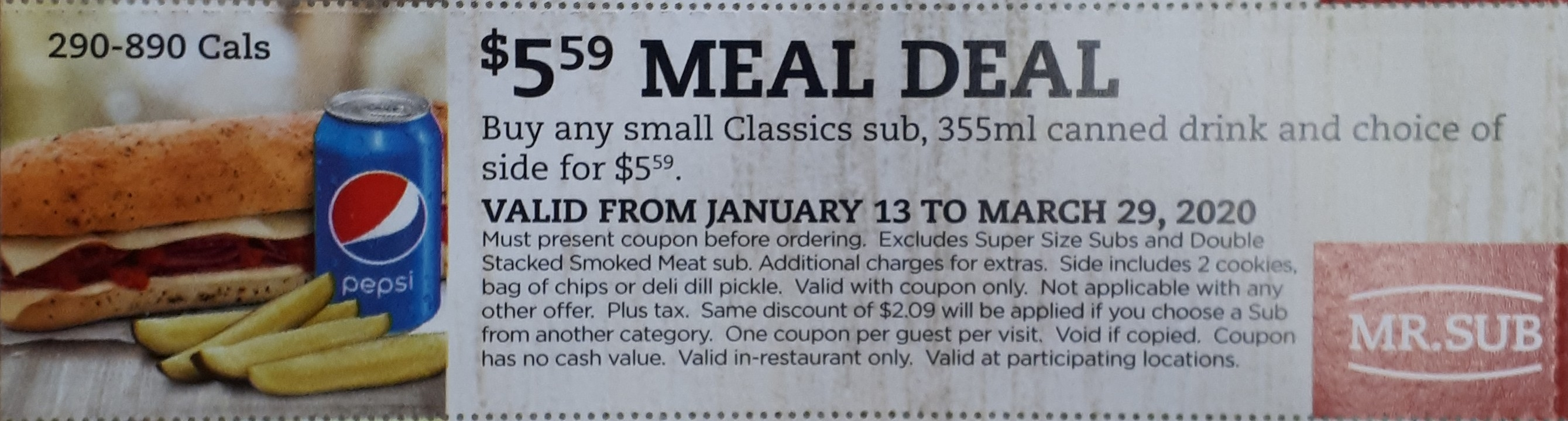 $5.59 Meal Deal