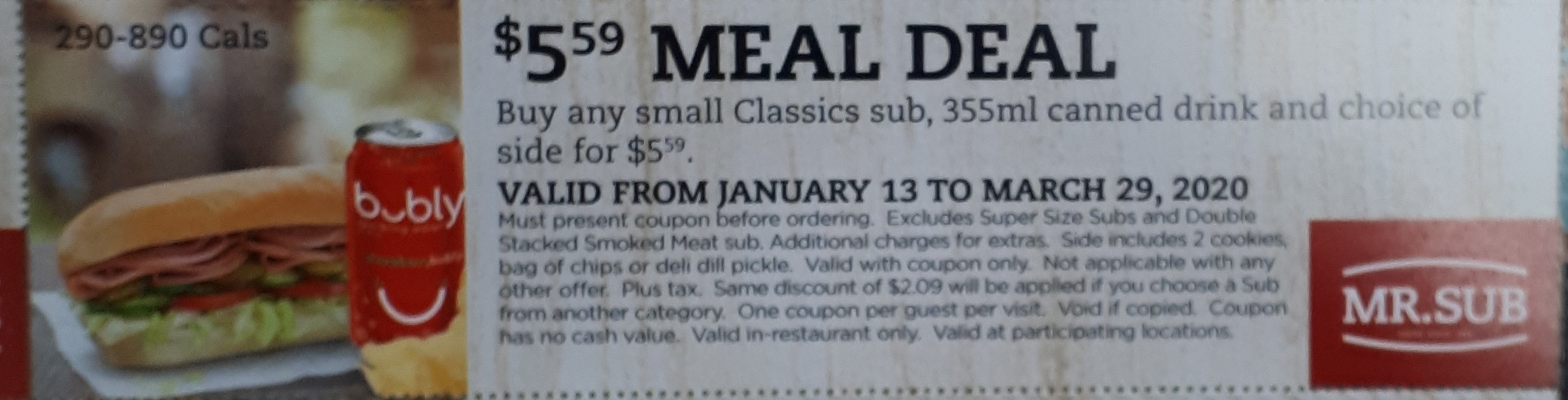 $5.99 Combo Meal Deal