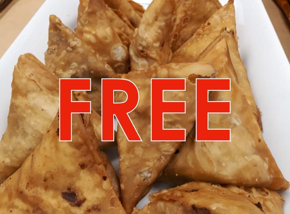 Free Chicken Samosa 1 Pcs