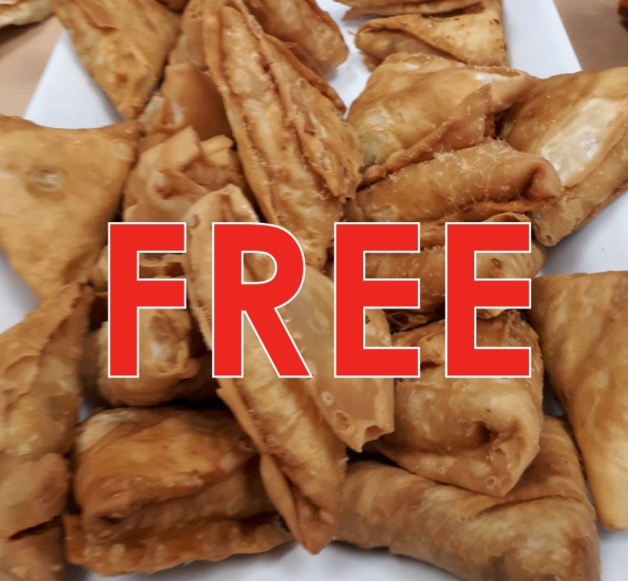 Free Veggie Samosa 1 Pcs