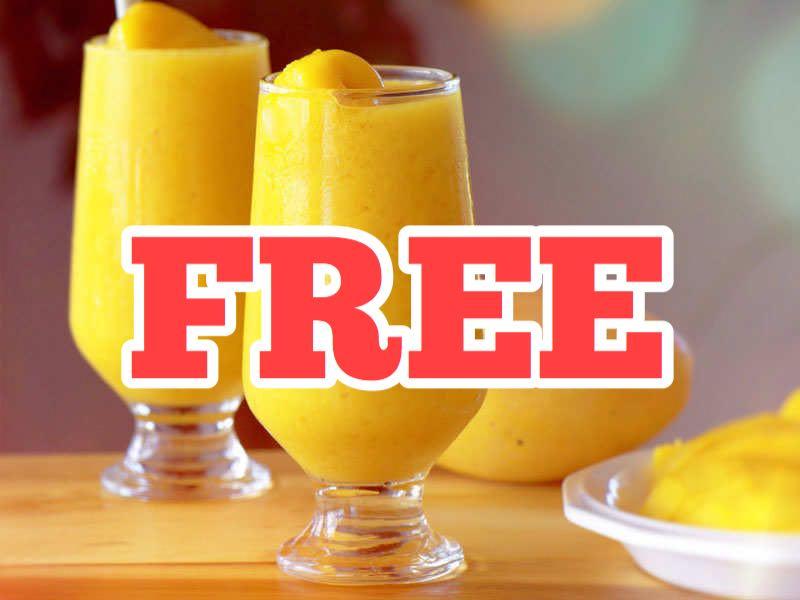 Free Fresh Mango Drink 8oz
